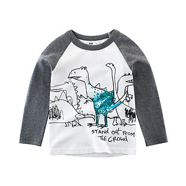 b004f2ef9aeb Χαμηλού Κόστους Μπλουζάκια για αγόρια-Παιδιά Αγορίστικα Βασικό Στάμπα Στάμπα  Μακρυμάνικο Βαμβάκι Μπλούζα Γκρίζο