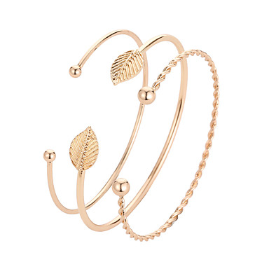 abordables Bracelet-Manchettes Bracelets Femme Classique Elégant Coréen Bracelet Bijoux Dorée pour Quotidien
