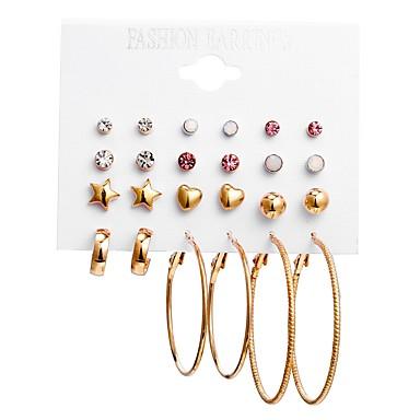 57f331283 Women's Earrings Set Earrings Heart Star Baroque European Jewelry Gold For  Daily Bar 12 Pairs