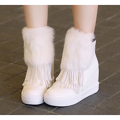 povoljno Ženske čizme-Žene PU Jesen zima Čizme Creepersice Čizme do pola lista Obala / Crn / Sive boje
