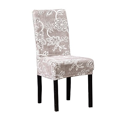 Chair Cover Floral Printed Polyester Slipcovers