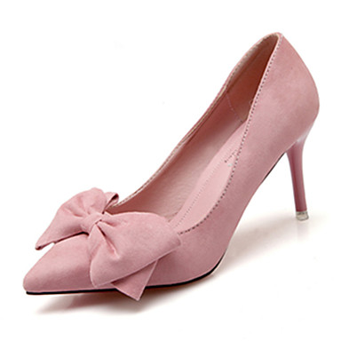 billige Dusty Rose-Dame Høye hæler Stiletthæl Spisstå Fuskelær Gange Vår & Vinter Grønn / Blå / Dusty Rose / Daglig