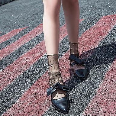 abordables Accessoires pour Chaussures-1 paire Femme Chaussettes Standard Points Polka Déodorant Style Mignon Nylon EU36-EU46