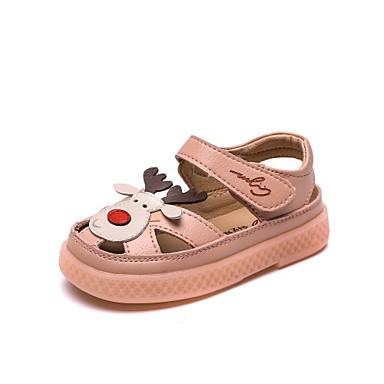 baratos Para Crianças de 0-9 Meses-Para Meninas Microfibra Sandálias Crianças (0-9m) / Criança (9m-4ys) Conforto / Primeiros Passos Bege / Rosa claro Verão