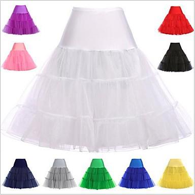 Princess Lolita 1950s Women's Petticoat Hoop Skirt Tutu Under Skirt Crinoline Cosplay Pink / Ink Blue / Ivory Knee Length Costumes