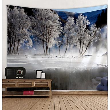 Puutarha-teema / Kukkais-teema Wall Decor 100% polyesteri Moderni Wall Art, Seinävaatteet Koriste