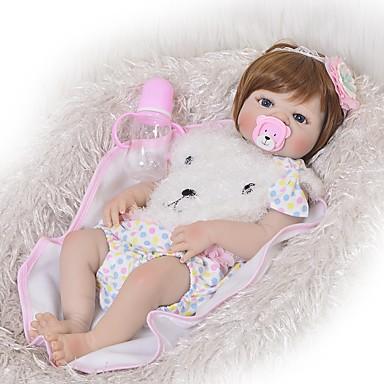 FeelWind Reborn Dolls Tyttövauvat 22 inch Koko kehon silikoni - Lapset / nuoret Lasten Unisex Lelut Lahja