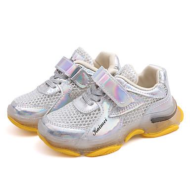 voordelige Babyschoenentjes-Jongens / Meisjes Comfortabel Netstof Sneakers Peuter (9m-4ys) / Little Kids (4-7ys) / Big Kids (7jaar +) Wandelen Donker Grijs / Zilver / Roze Zomer / Rubber