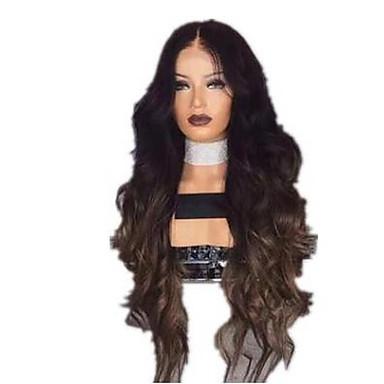 Accesorios para Disfraz Rizado Estilo Con flequillo Hecho a Máquina Peluca Negro Negro / Marrón Pelo sintético 65 pulgada Mujer Mujer Negro / Marrón Peluca Media Peluca natural