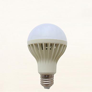 abordables Ampoules électriques-1pc 7 W Ampoules Globe LED 310-410 lm E26 / E27 21 Perles LED Audio-activé Blanc Froid 220-240 V