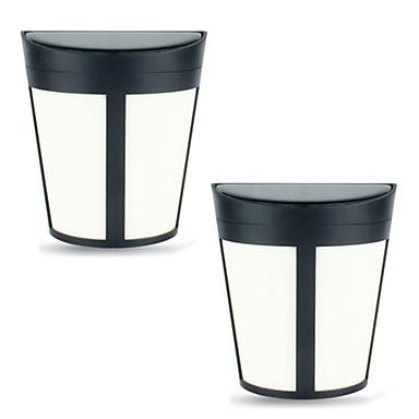 billige Utendørsbelysning-2pcs 1w solvannlampe vanntett sollysdimmable varm hvit hvit rgb + varm 1.2v utendørsbelysning gårdsplassshage 6led perler