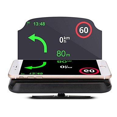 voordelige Automatisch Electronica-lt29 5,6 inch andere cmos sensor draadloos 5,62 inch head-up display waterdicht / opvouwbaar / nieuw ontwerp voor auto / bus / vrachtwagen gps-navigatie / rijsnelheid meten / rijsnelheid
