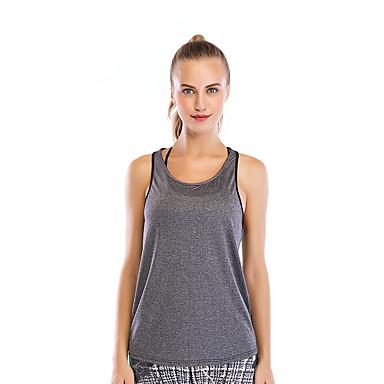 Naisten Yoga Top Urheilu Yhtenäinen väri Liivi Topit Jooga Juoksu Fitness Hihaton Activewear Hengittävä Nopea kuivuminen Hikeä siirtävä Elastinen Löysä