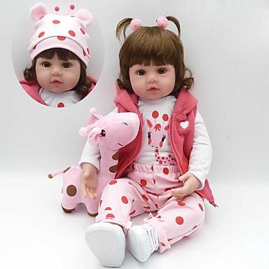 billige Reborn-dukker-Reborn-dukker Babypiger 18 inch Silikone - Børn / Teen Børne Unisex Legetøj Gave