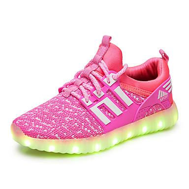 baratos Sapatos de Criança-Para Meninos / Para Meninas Tricô Tênis Criança (9m-4ys) / Little Kids (4-7 anos) / Big Kids (7 anos +) Tênis com LED LED Preto / Azul / Rosa claro Primavera / Borracha