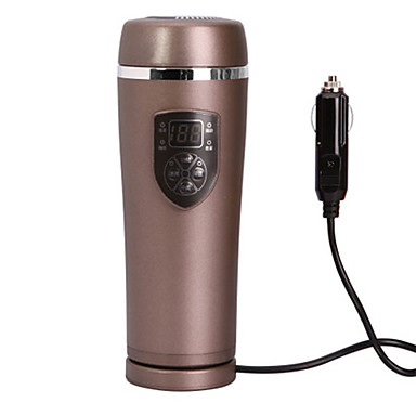 voordelige Automatisch Electronica-anycup auto waterkoker 0,38 l roestvrij staal draagbare lage ruis thermos beker underpan verwarming 12v