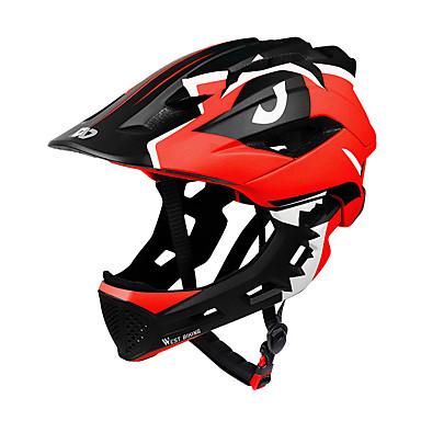 abordables Casques de Cyclisme-WEST BIKING® Enfant Casque de vélo BMX Casque 28 Aération CE Résistant aux impacts Intégralement moulé Réglable EPS PC Des sports Vélo de Route Vélo tout terrain / VTT Activités Extérieures - Bleu