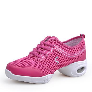 Intenzionale Per Donna Sneakers Da Danza Moderna Retato Sneaker A Fantasia Piatto Personalizzabile Scarpe Da Ballo Rosa #07280270