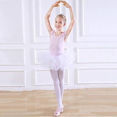 Dansetøj til børn / Ballet Kjoler Pige Træning / Ydeevne Bomuld Kombination Kortærmet Naturlig Kjole