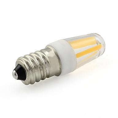 1kpl 2 W LED-hehkulamput 200 lm E14 T 4 LED-helmet COB Lämmin valkoinen Valkoinen 220-240 V / RoHs