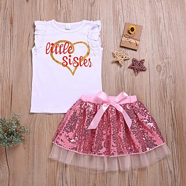 df755360e7d3 Χαμηλού Κόστους Βρεφικά σετ ρούχων-Μωρό Κοριτσίστικα Ενεργό   Βασικό Στάμπα  Φιόγκος   Δίχτυ