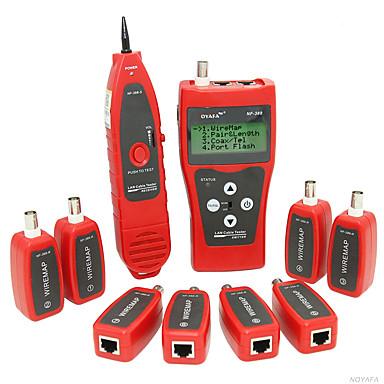 voordelige Test-, meet- & inspectieapparatuur-nf-388 multifunctionele netwerkkabel tester lan rj45 rj11 usb bnc kabel tester met 8 afstandsbedieningen
