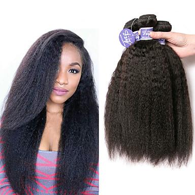 voordelige Weaves van echt haar-3 bundels Indiaas haar YakiRecht Onbehandeld haar 100% Remy haarweefselbundels Menselijk haar weeft Bundle Hair Extentions van mensenhaar 8-28 inch(es) Natuurlijke Kleur Menselijk haar weeft