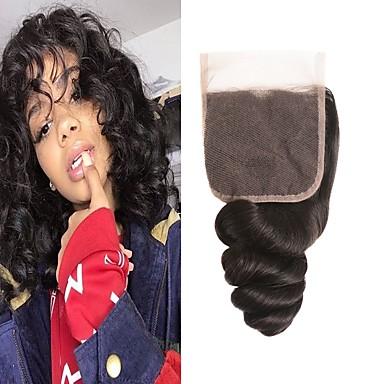 billige Parykker af ægte menneskerhår-1 Bundle Brasiliansk hår Løst, bølget hår 100% Remy Hair Weave Bundles Menneskehår, Bølget Hårforlængelse af menneskehår 8-20inch Naturlig Farve Menneskehår Vævninger Nyfødt Vandfald Nuttet