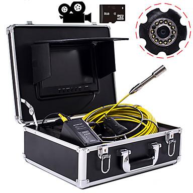 voordelige Test-, meet- & inspectieapparatuur-23 mm industriële lens endoscoop 20-meter werklengte 9-inch display met video camera functie autoreparatie inspectie pijplijnreparatie