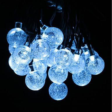 GMY® 6m Koristevalot 30 LEDit Kylmä valkoinen Vedenkestävä / Aurinkokenno / Koristeltu Aurinkopaneeli 1set / IP44