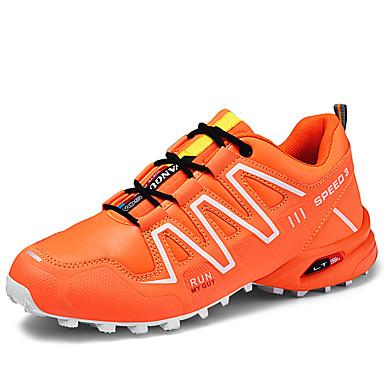 رجالي أحذية الراحة المواد التركيبية الخريف / للربيع والصيف رياضي / عتيق أحذية رياضية المشي غير الانزلاق ألوان متناوبة أسود / برتقالي / أخضر