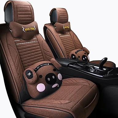 Fundas para asiento / Cojines para asiento de coche Kits de cojines para el reposacabezas y cintura / Cojines de asiento Café / Negro / Rojo / Negro / Azul fibra sintética / Tejido de poliéster
