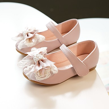 64db817e7 MRLOTUSNEE® Girls' Shoes Microfiber Spring / Fall Comfort / Flower Girl  Shoes Flats Bowknot for Kids / Toddler Light Pink / Ivory / Party & Evening