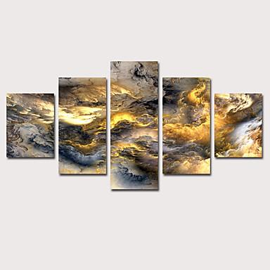 abordables Toiles-Imprimé Impression sur Toile - Abstrait Céleste Classique Moderne Cinq Panneaux Art Prints