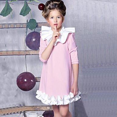 31f628a0d8a Μωρό Κοριτσίστικα Ενεργό / Κομψό στυλ street Patchwork Με Βολάν / Patchwork  Μακρυμάνικο Ρεϊγιόν / Πολυεστέρας Φόρεμα Θαλασσί