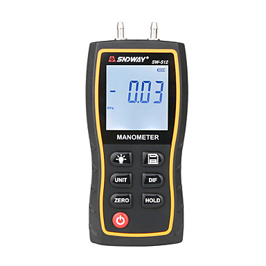 voordelige Test-, meet- & inspectieapparatuur-Sndway manometer luchtdrukmeter hoge precisie handheld digitale differentieel aardgas druk meter meting sw-512