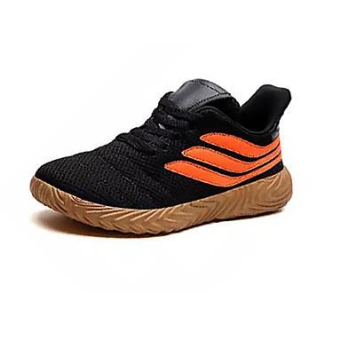 Miesten Comfort-kengät Silmukka Kesä Vapaa-aika Urheilukengät Kävely Hengittävä Musta / valkoinen / Musta / punainen / Oranssi ja musta