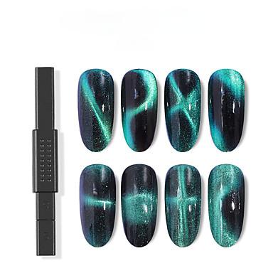 voordelige Nagelgereedschap & Apparatuur-1pc Metallic Voor Vingernagel Beste kwaliteit Nagel kunst Manicure pedicure Meetkundig Dagelijks