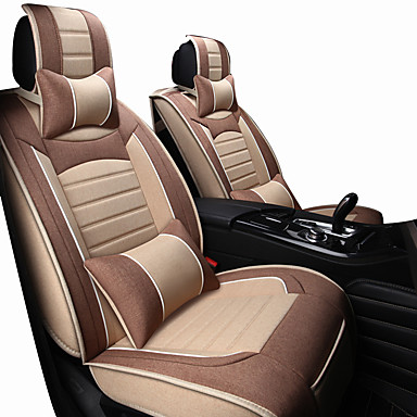 voordelige Auto-interieur accessoires-autostoelbekleding hoofdsteun&taillekussentjes kunstleder voor auto's beschermen de voorstoel universeel zwart / rood / zwart / wit / zwart / blauw