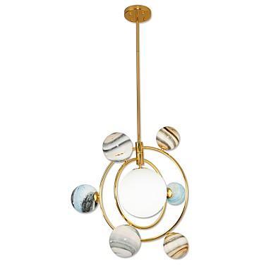 uutuus lasi kattokruunu / moderni led riipus lamppu olohuoneeseen Näytä huone / kulta galvanoitu / lämmin valkoinen / valkoinen g9 lamppu mukana