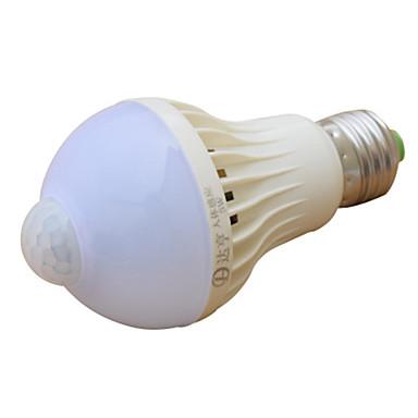 abordables Ampoules électriques-1pc 5 W Ampoules Globe LED 270-370 lm E26 / E27 14 Perles LED Capteur infrarouge 220-240 V
