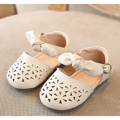 voordelige Babyschoenentjes-Meisjes Comfortabel / Eerste schoentjes PU Platte schoenen Zuigelingen (0-9m) / Peuter (9m-4ys) Beige / Roze Zomer