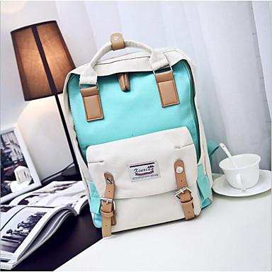 cheap Backpacks-Oxford Zipper School Bag Daily Purple / Light Green / Light Purple / Fall & Winter