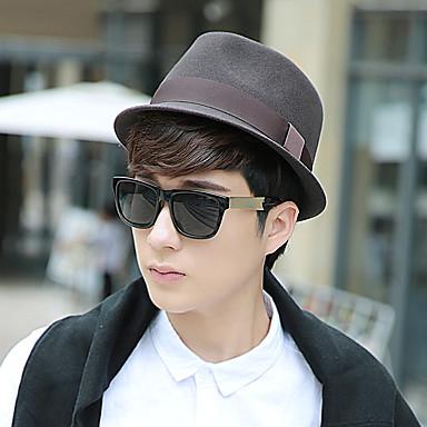 Wollfilz Hüte mit Einfarbig 1 Stück Freizeitskleidung / Kentucky Derby Kopfschmuck