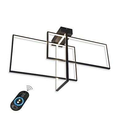 moderni huuhteluvalot / led-kattovalaisin olohuoneen ruokailuhuoneeseen / lämmin valkoinen / valkoinen / himmennettävä kauko / wifi-ohjauksella, joka on toimiva amazon kaiku- tai google-kotipelissä