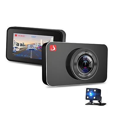 abordables DVR de Voiture-junsun h9 1080p / 2160p hd / dual lens / boot enregistrement automatique de voiture dvr 170 degrés grand angle omnivision ov 4689 3 pouces ips dash cam avec vision nocturne / g-sensor / enregistreur d