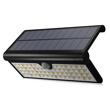abordables Éclairage Extérieur-1pc 3 W Projecteurs LED / Led Street Light / Lampe murale solaire Imperméable / Solaire / Capteur infrarouge Blanc 3.7 V Eclairage Extérieur / Piscine / Cour 58 Perles LED
