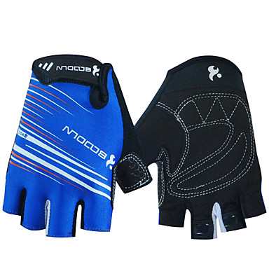 cheap Bike Gloves / Cycling Gloves-BOODUN Bike Gloves / Cycling Gloves Breathable Anti-Slip Sweat-wicking Protective Half Finger Sports Gloves Lycra Mountain Bike MTB Black Green Blue for Adults' Outdoor