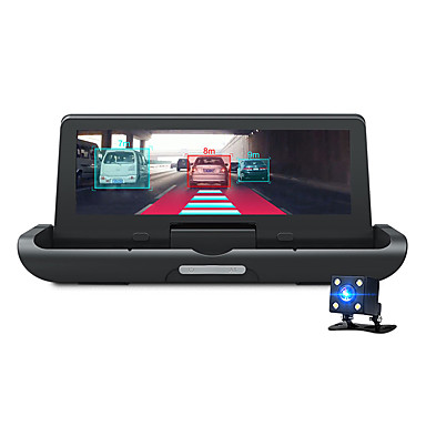 voordelige Automatisch Electronica-Junsun e91p 7,84 inch ips-scherm fhd 1080p 4g adas wifi afstandsbediening monitor bluetooth dual record gps dual lens opname car assist app parkeermonitor auto dvr auto gps-navigatie met achteruitkijk