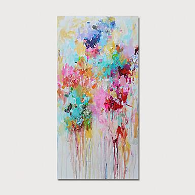 abordables Peintures à l'Huile-Peinture à l'huile Hang-peint Peint à la main - Abstrait Moderne Inclure cadre intérieur